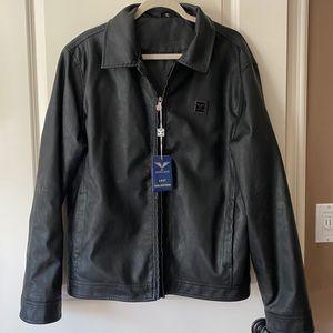 NWT AC Dimilano Men's Leather Jacket size XL